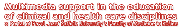 Multimedia support in the education of clinical and health care disciplines :: Portal of Pavol Jozef Šafárik University in Košice Faculty of Medicine